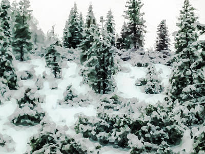 Lake Tahoe Photograph - Abstract Snowy Trees 2 by Heather Joyce Morrill