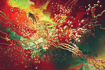 Painting - Abstract Space by Tithi Luadthong