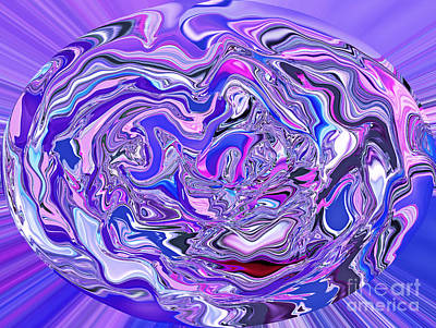 Digital Art - Abstract Sphere Xxii by Jim Fitzpatrick