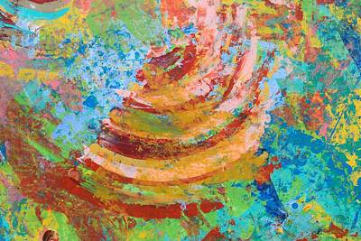 Horizontal Painting - Abstract Spin by Sumit Mehndiratta