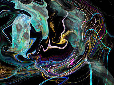 Abstract-spirit Art Print by Patricia Motley
