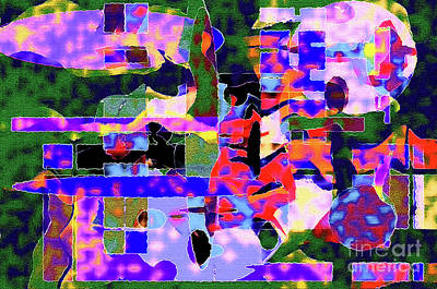 Photograph - Abstract Sports Montage by Andee Design