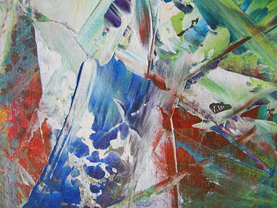 Painting - Abstract Spring - Close Up 2 by Anita Burgermeister