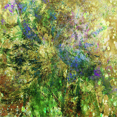 Mixed Media - Abstract Spring Burst Inspired By Van Gogh by Georgiana Romanovna
