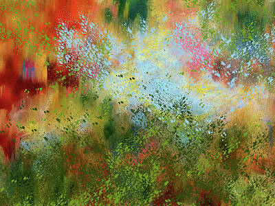 Mixed Media - Abstract Spring Soliloquy by Georgiana Romanovna