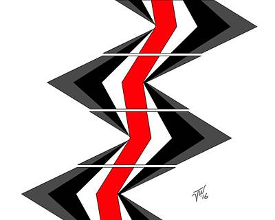 Digital Art - Abstract Stairs by John Wills