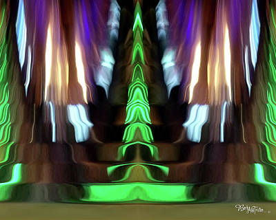 Photograph - Abstract Stairs Of Imagination #0609_35_2a by Barbara Tristan