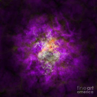 Polaroid Camera - Abstract stars nebula by Miroslav Nemecek