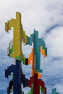 Photograph - Abstract Statue Sky And Clouds by Robert Ullmann