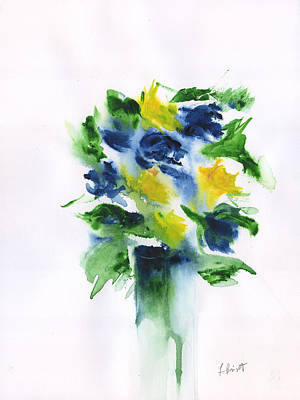 Painting - Abstract Still Life Flowers by Frank Bright