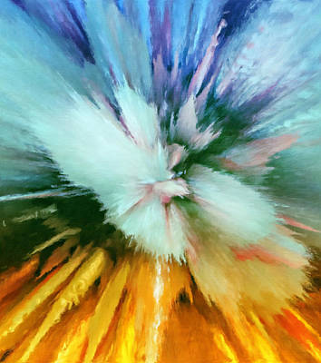Free Mixed Media - Abstract Storm Vortex by Georgiana Romanovna