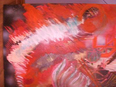 Abstract Study In Red  Art Print by Anne-Elizabeth Whiteway