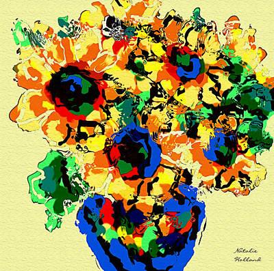 Russian Artist Digital Art - Abstract Sunflower Bouquet by Natalie Holland