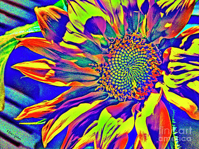Digital Art - Abstract Sunflower Fantasy by Dale E Jackson