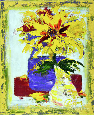 Painting - Abstract Sunflower by Lynda Cookson