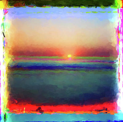 Painting - Abstract Sunset by Gary Grayson