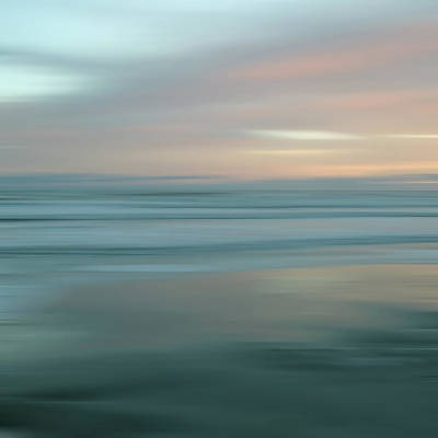 Photograph - Abstract Sunset Illusions - Blue by Joann Vitali