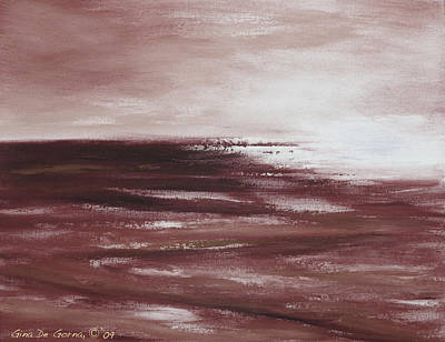 Painting - Abstract Sunset In Brown Reds by Gina De Gorna
