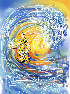 Abstract Surfer 41 Art Print by Robert Yaeger