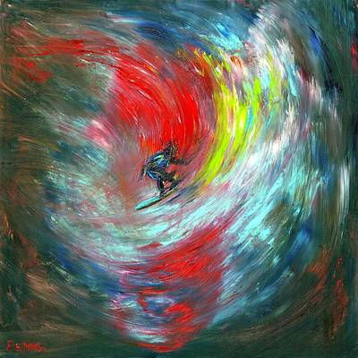 Painting - Abstract Surfer by Paul Emig