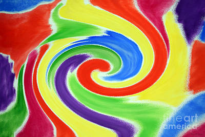 Painting - Abstract Swirl A2 1215 by Mas Art Studio