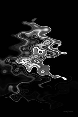 Gordan Digital Art - Abstract Swirl Monochrome by David Gordon