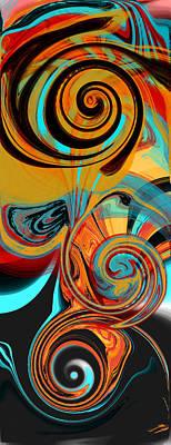 Digital Art - Abstract Swirls by Jessica Wright