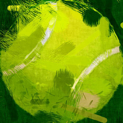 Tennis Digital Art - Abstract Tennis Ball by David G Paul