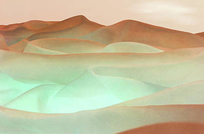 Digital Art - Abstract Terracotta Landscape by Deborah Smith