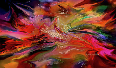 Digital Art -  Abstract-the Wild Of The Sea by Sherri's Of Palm Springs