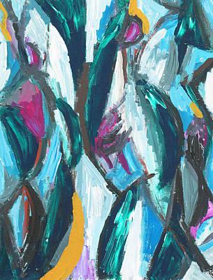 Abstract Three Graces Art Print by Kazuya Akimoto