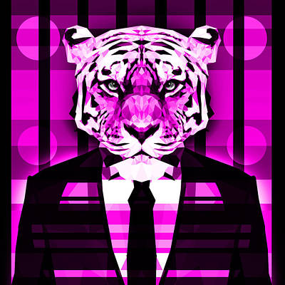 Tuxedo Cat Digital Art - Abstract Tiger 2 by Gallini Design