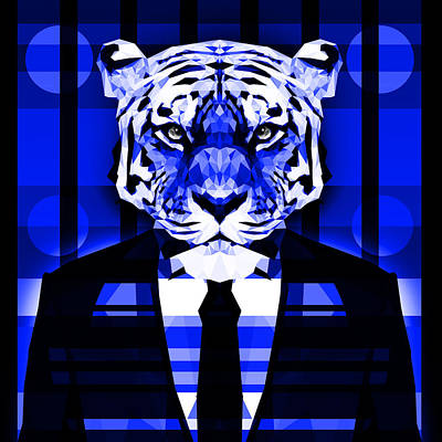 Tuxedo Cat Digital Art - Abstract Tiger 3 by Gallini Design