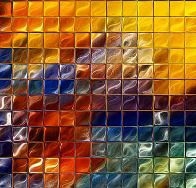 Abstract -tiles Art Print by Patricia Motley