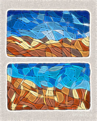 Abstract Tiles - Rocks And Sky No. 14-0225 Art Print