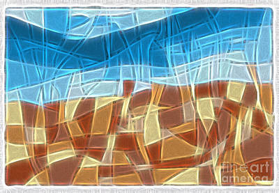 Abstract Tiles - Rocks And Sky No 16.041401 Art Print