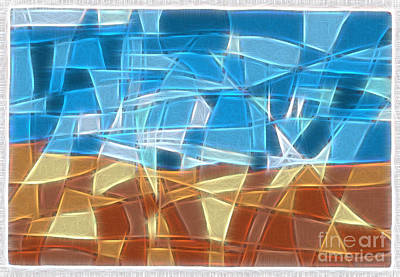 Abstract Tiles - Rocks And Sky No 16.041402 Art Print