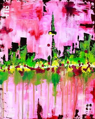 Abstract Toronto Skyline Art Print by Kayla Mallen