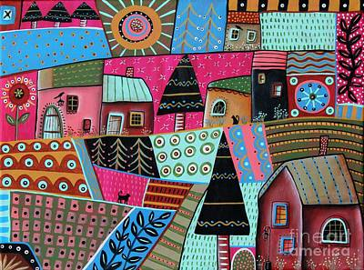 Abstract Town Art Print by Karla Gerard