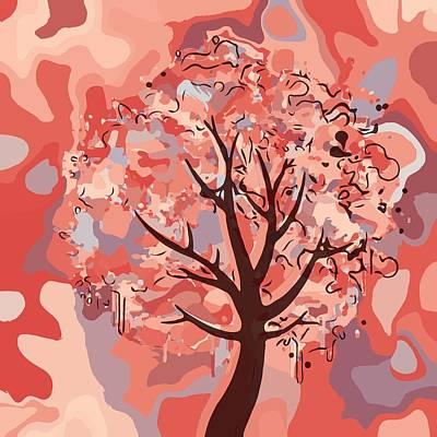 Digital Art - Abstract Tree by Gabriella Weninger - David