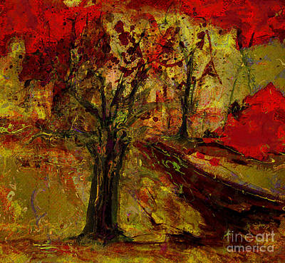 Painting - Abstract Tree by Julie Lueders