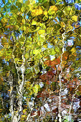 Abstract Tree Reflection Art Print by Christina Rollo