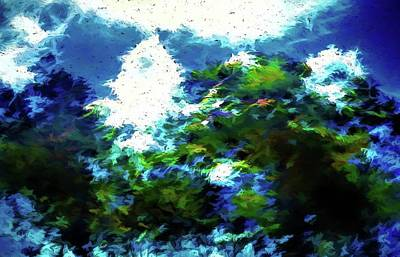 Photograph - Abstract Trees 572 by Kristalin Davis