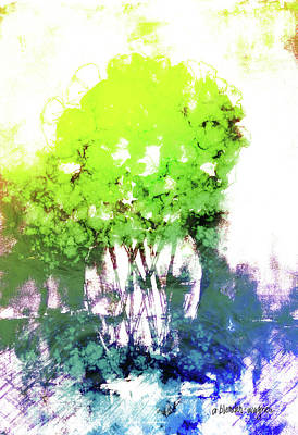 Everglades Digital Art - Abstract Trees In The Everglades by Arline Wagner