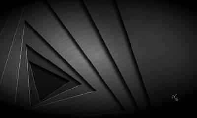 Digital Art - Abstract Triangular Vortex by John Wills