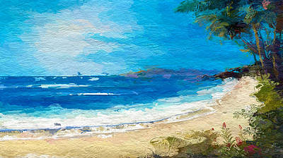 Mixed Media - Abstract Tropical Beach by Anthony Fishburne