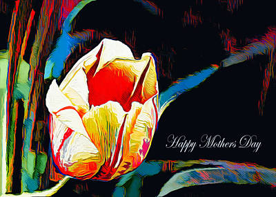 Digital Art - Abstract Tulip - Happy Mothers Day by Pennie McCracken