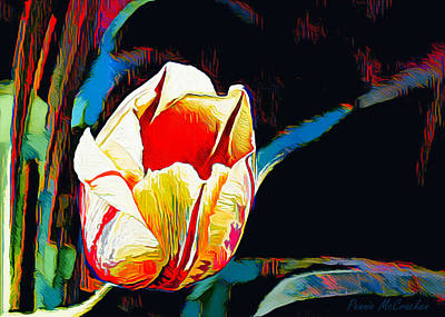 Digital Art - Abstract Tulip by Pennie McCracken
