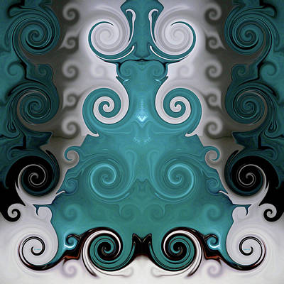 Photograph - Abstract Turquoise Boot Vase by Kathy K McClellan
