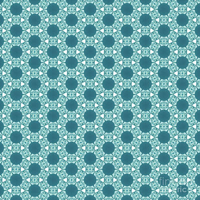 Digital Art - Abstract Turquoise Pattern 3 by Alisha at AlishaDawnCreations